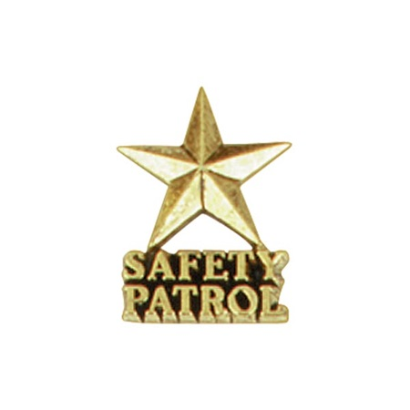 Safety Patrol Award Pin - Gold Star