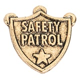 Safety Patrol Award Pin - Shield With Words