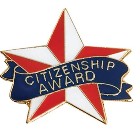 Citizenship Award Pin - Red, White & Blue Star