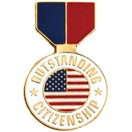 Citizenship Award Pin - Patriotic Medallion