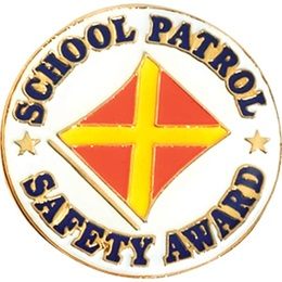 Safety Patrol Award Pin - Flag