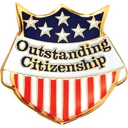 Citizenship Award Pin - Flag Shield