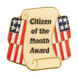 Citizen of the Month Award Pin - Flags