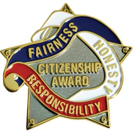 Citizenship Award Pin - Star and Ribbon