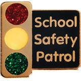 Safety Patrol Award Pin - Glitter Stoplight