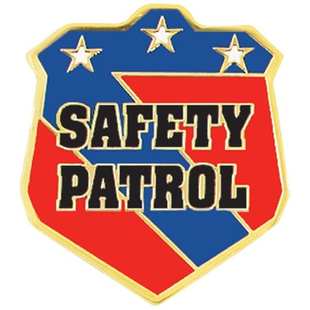 Safety Patrol Award Pin - Badge