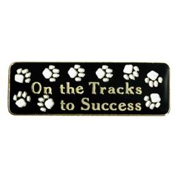 On the Tracks to Success Award Pin - Paw Prints