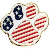 Paw Award Pin - Patriotic