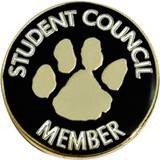 Student Council Award Pin - Paw