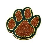 Paw Award Pin - Glitter Orange/Black