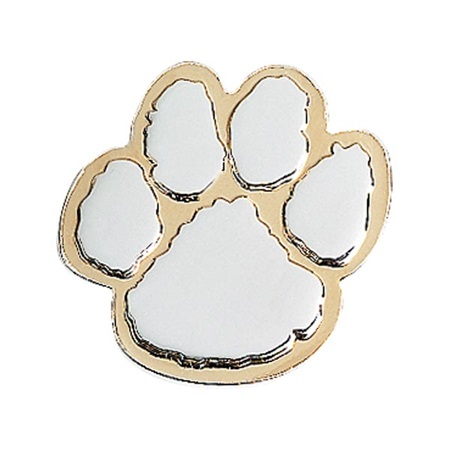 Paw Award Pin - Silver/Gold