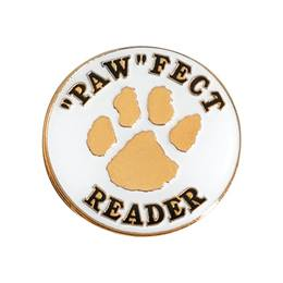 "Reading Award Pin - ""Paw""Fect Reader"