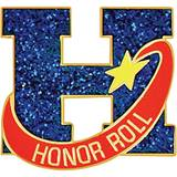 Honor Roll Award Pin - Glitter H