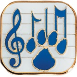 Music Award Pin - Blue Notes and Paw