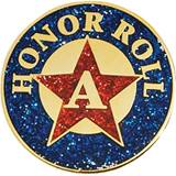Honor Roll Award Pin - Glitter Star