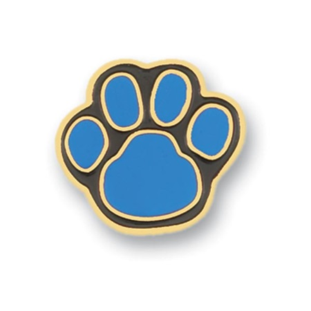 Paw Award Pin - Teal/Black