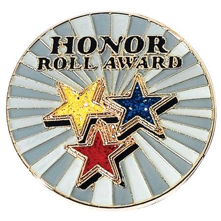 Honor Roll Award Pin - Glitter Stars