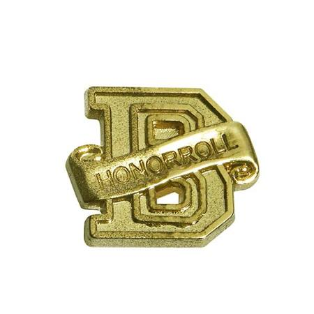 Honor Roll Award Pin - Gold B