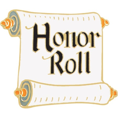 Honor Roll Award Pin - Scroll