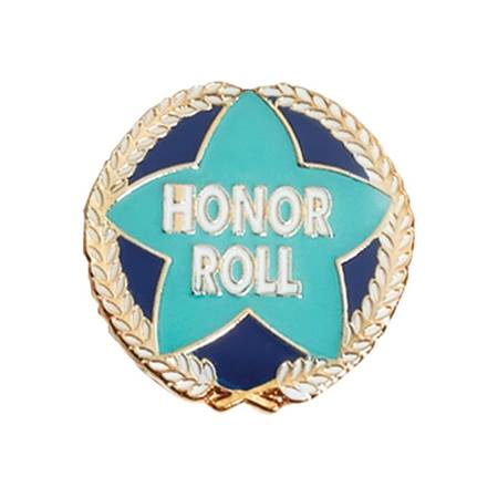 Honor Roll Award Pin - Blue Star