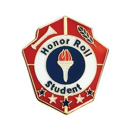 Honor Roll Award Pin - Torch and Shield