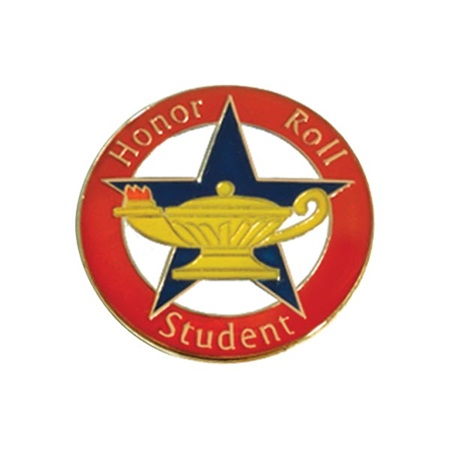 Honor Roll Award Pin - Honor Roll Student