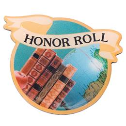 Honor Roll Photo Award Pin - Books and Globe