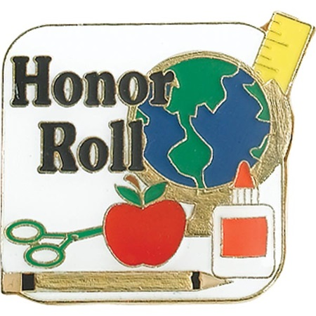 Honor Roll  Award Pin - School Supplies
