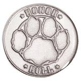 Honor Roll Award Pin - Silver Paw