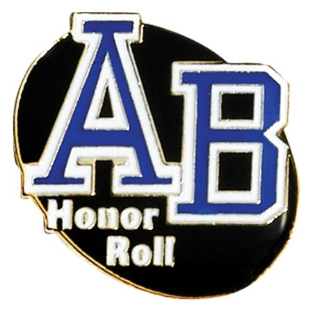 Honor Roll  Award Pin - AB Honor Roll