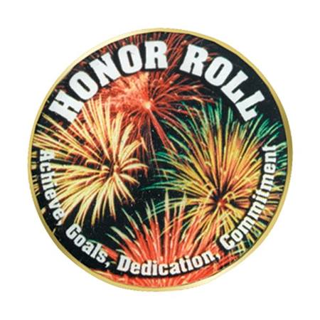 Honor Roll Photo Award Pin - Fireworks