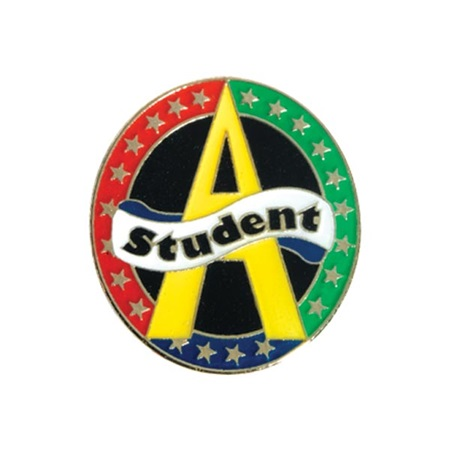 "Honor Roll Award Pin - ""A"" Student"