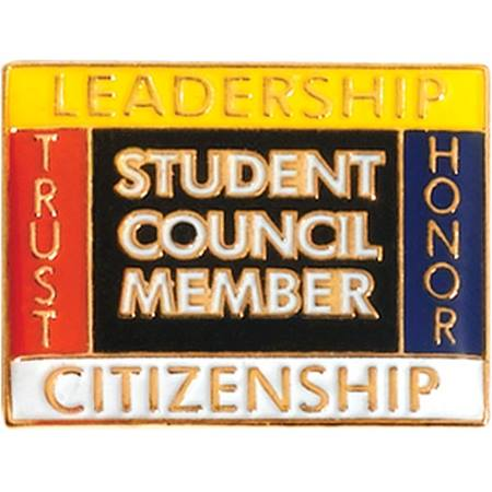 Student Council Award Pin - Words