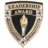 Leadership Award Pin - Shield and Torch
