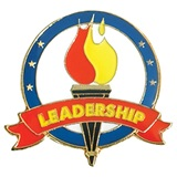 Leadership Award Pin - Torch