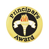 Principal's Award Pin - Colored Torch
