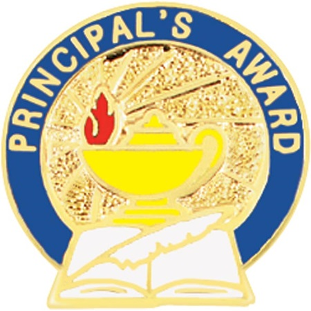 Principal's Award Pin - Lamp and Book