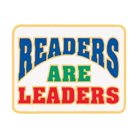 Reading Award Pin - Readers Are Leaders