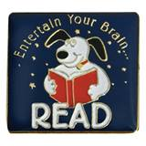 Reading Award Pin - Entertain Your Brain
