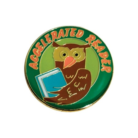 Reading Award Pin - Owl Accelerated Reader