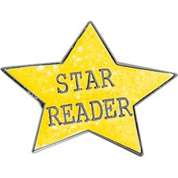 Reading Award Pin - Star Reader Glitter Star