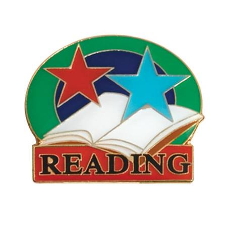 Reading Award Pin - Colored Stars