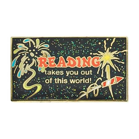 Reading Award Pin - Glitter Out of This World