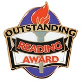 Reading Award Pin - Outstanding Award