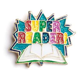 Super Reader Award Pin - Colorful Burst