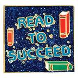Reading Award Pin - Glitter Read to Succeed