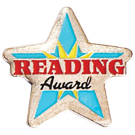 Reading Award Pin - Glitter Star
