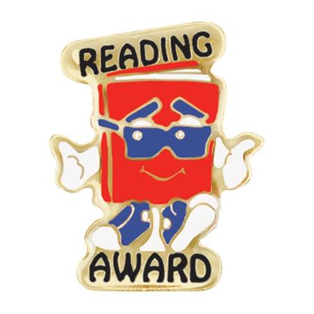 Reading Award Pin - Cool Book