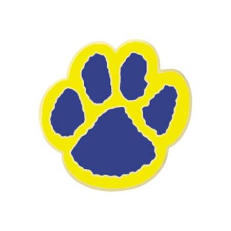 Paw Award Pin - Blue/Yellow