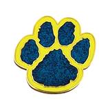 Paw Award Pin - Glitter Blue/Yellow